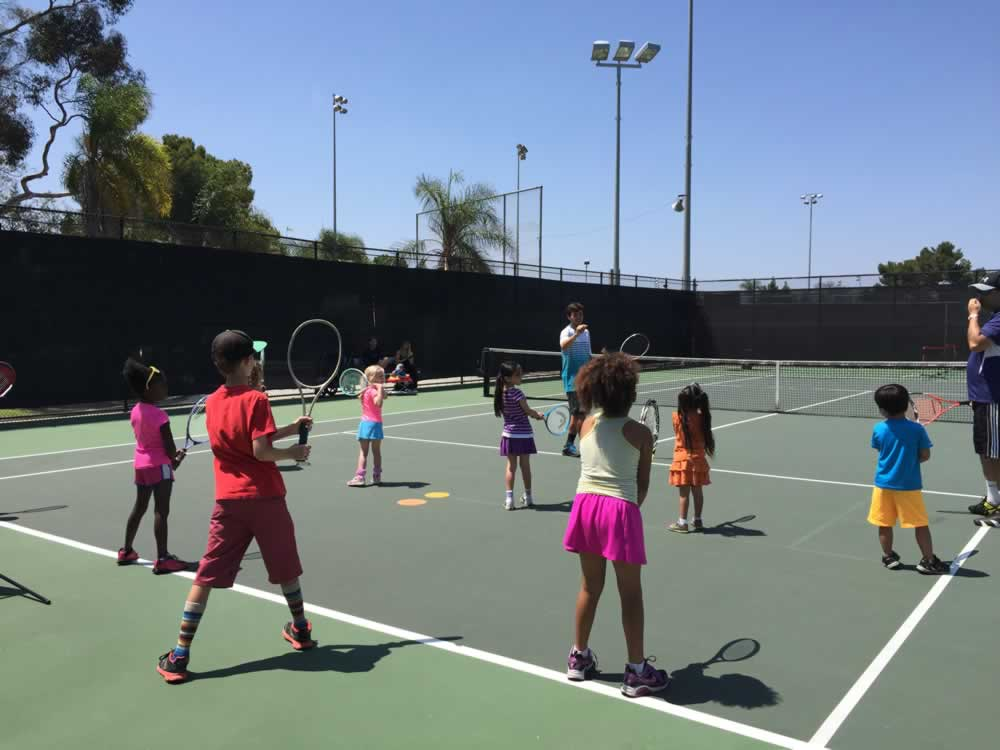 billie jean king tennis center with kids